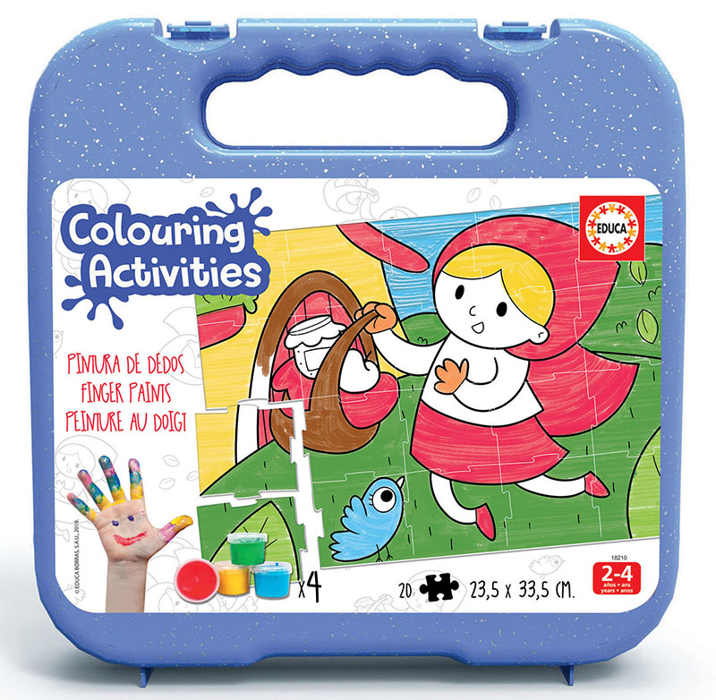 20 Little Red Riding Hood Colouring Puzzle