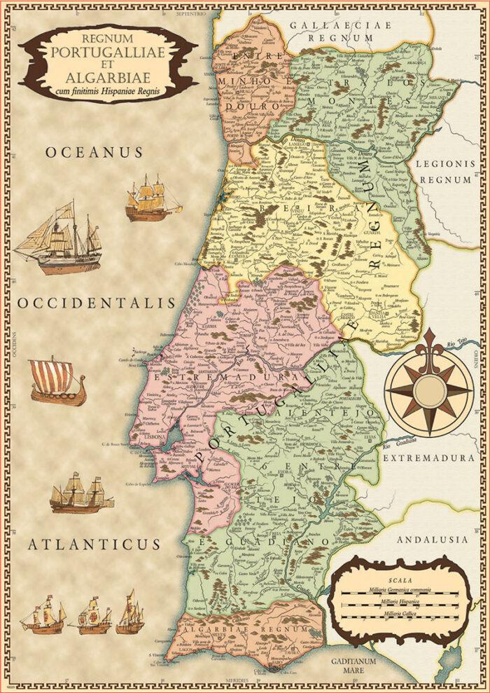 500 Mapa histórico de Portugal