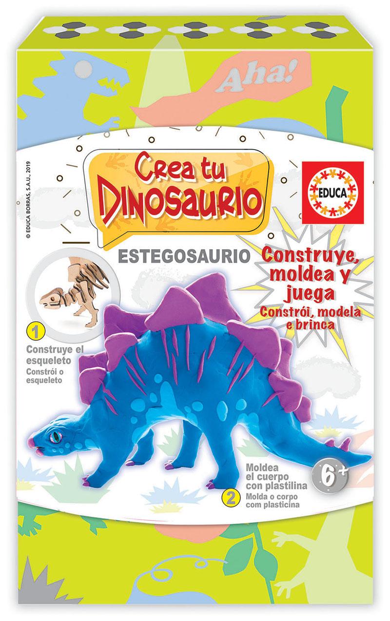 Crea y Moldea tu Stegosauro