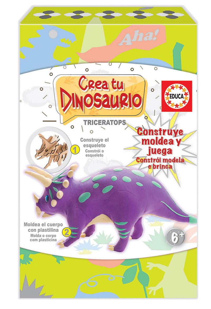Cria e molda o teu Triceratops