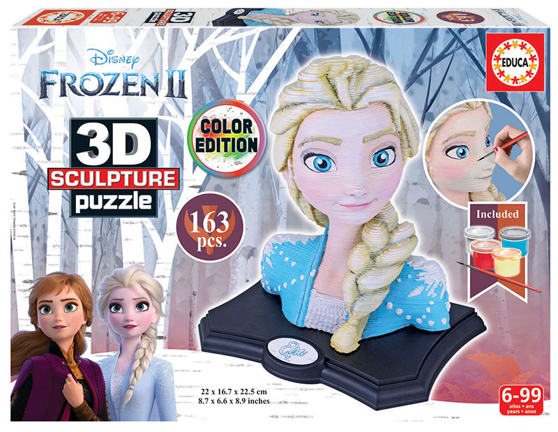 Color 3D Sculpture Puzzle Frozen 2