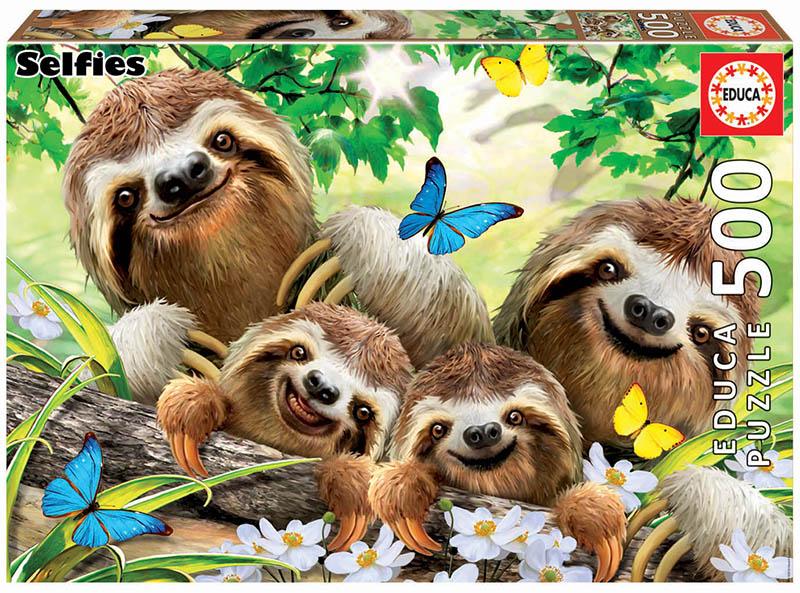 500 Sloth family Selfie