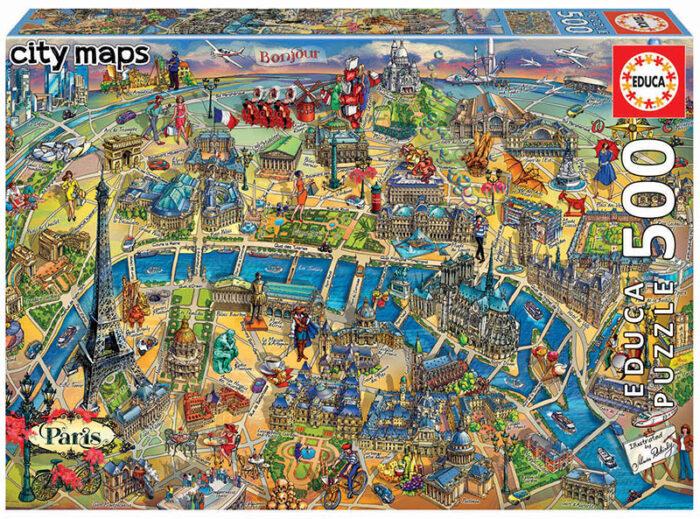 500 Mapa de París