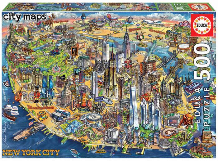 500 Mapa de Nueva York
