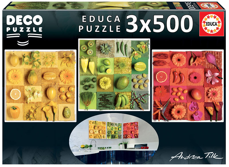 3×500 Exotic fruits and flowers, Andrea Tilk