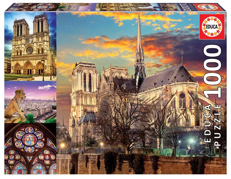 1000 Colagem de Notre Dame