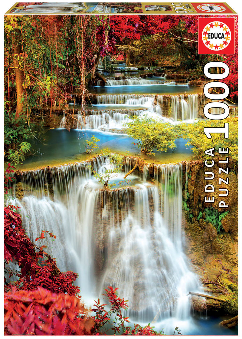 1000 Waterfall in deep forest
