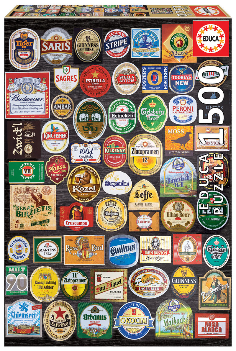 1500 Beer labels collage
