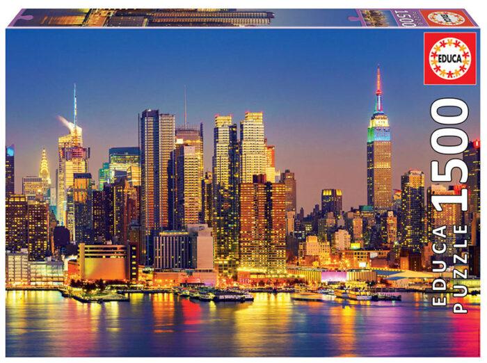 1500 Manhattan de noche