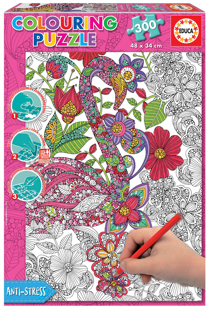 300 Flamenco ´Colouring Puzzle´