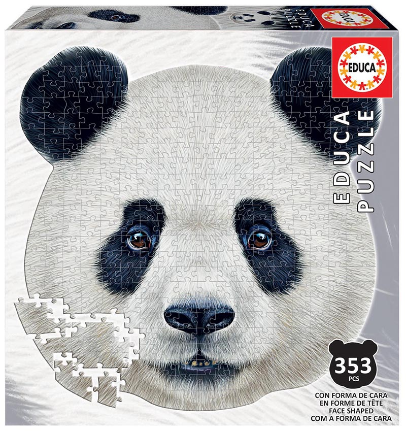 353 Ós panda ´Animal Face Shaped Puzzle´