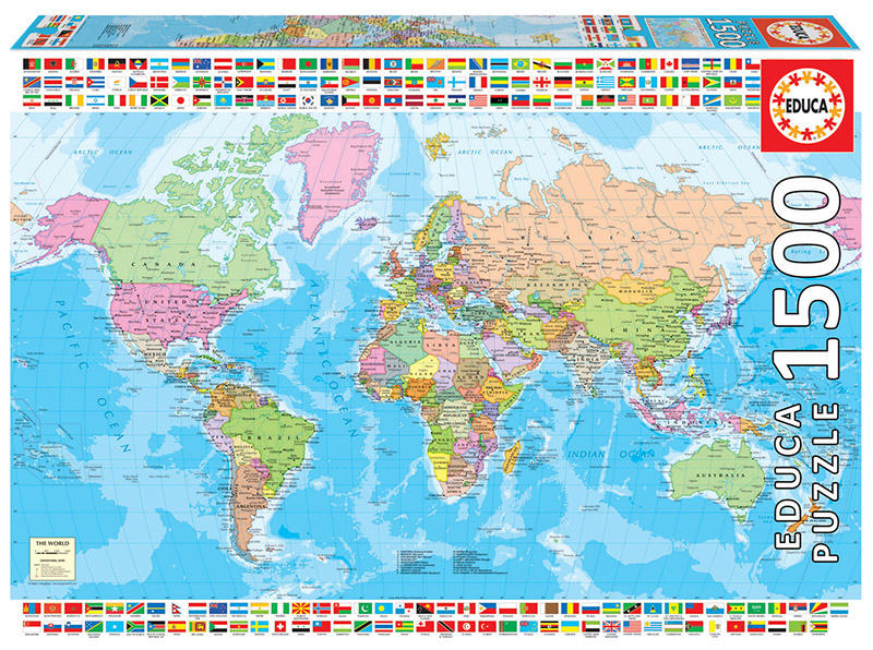 1500 Carte du monde politique