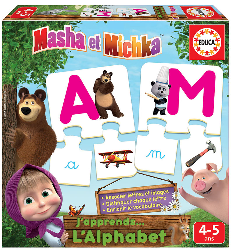 J´apprends L´alphabet Masha et Michka