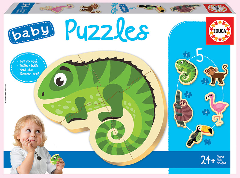 Baby Puzzles Tropical animals