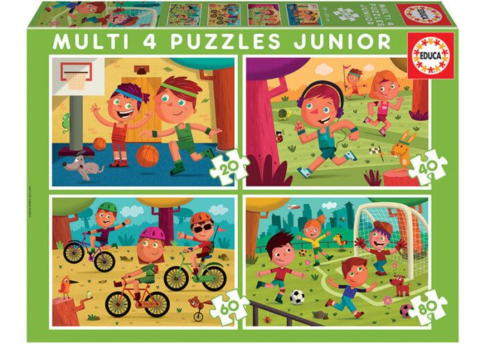 Multi 4 Junior Puzzles Deportes 20+40+60+80