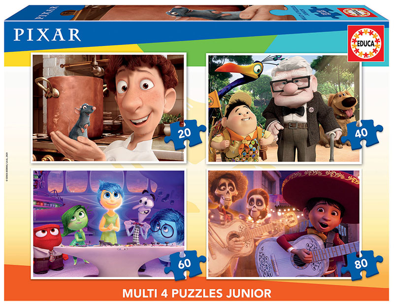 Multi 4 Junior Puzzles Disney Pixar 20+40+60+80