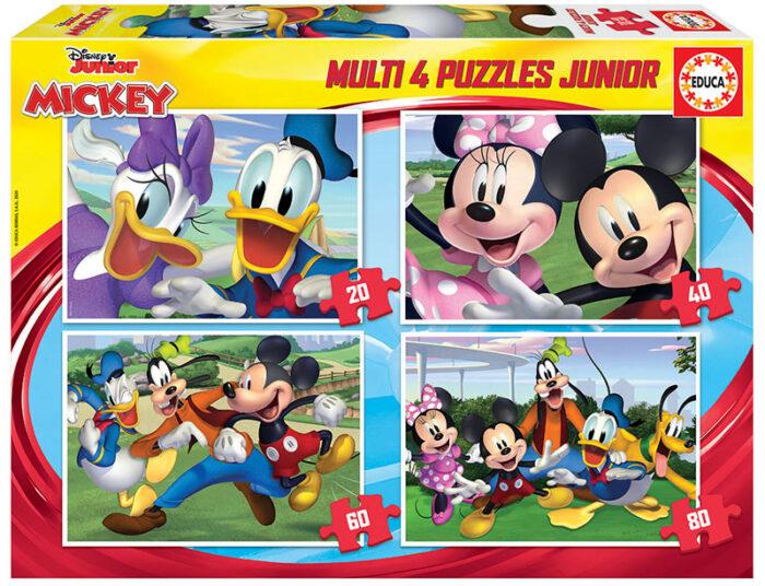 Multi 4 Junior Puzzles Mickey & Friends 20+40+60+80