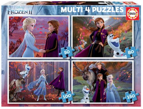 Multi 4 Puzzles Frozen 2 50+80+100+150