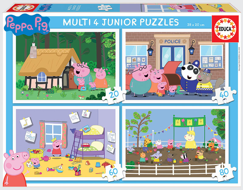 Multi 4 Junior Puzzles Peppa Pig 20+40+60+80