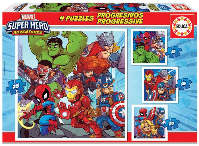 Puzzles Progresivos Marvel Super Heroe Adventures 12+16+20+25