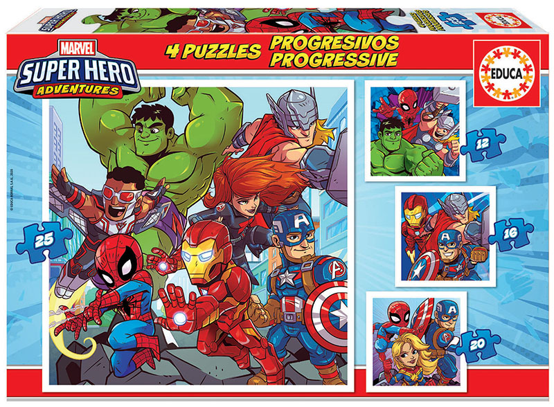Puzzles Progressifs Marvel Super Heroe Adventures 12+16+20+25