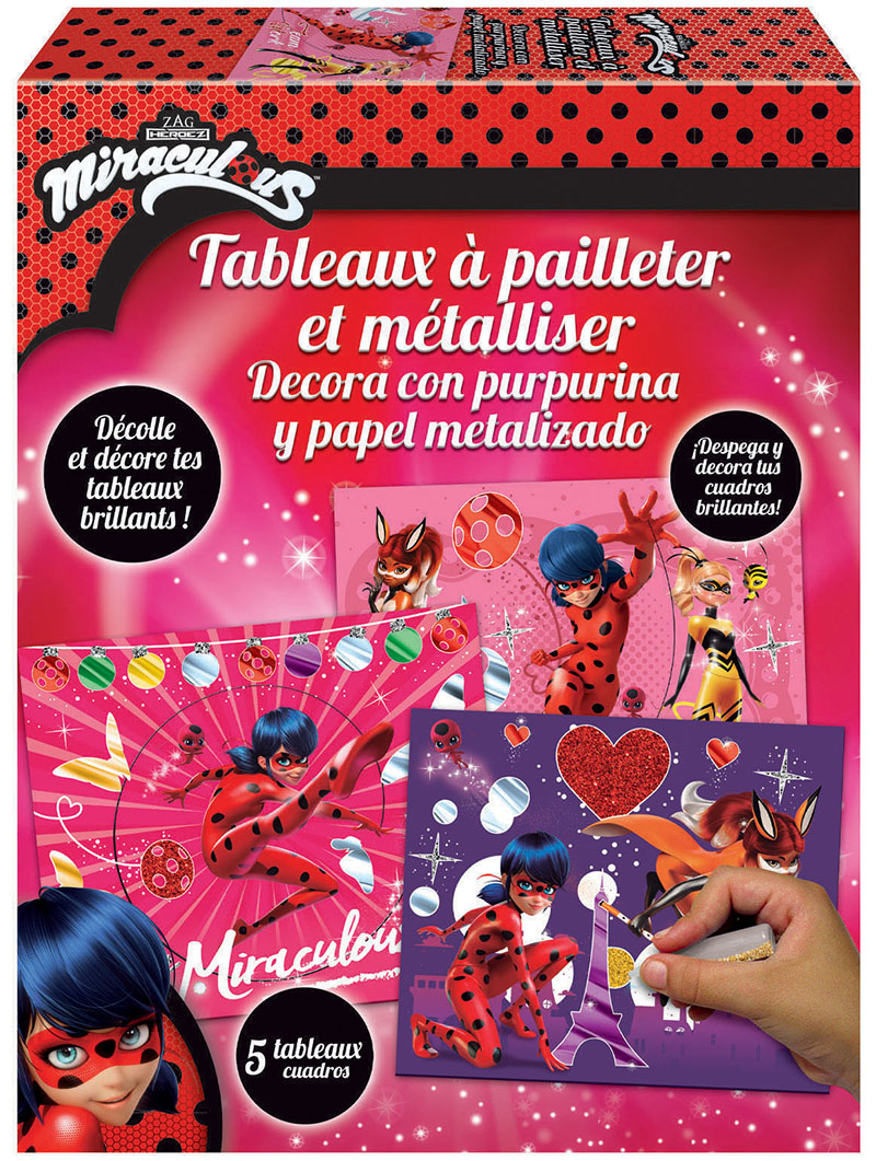 Decora con purpurina y papel metalizado Miraculous Ladybug