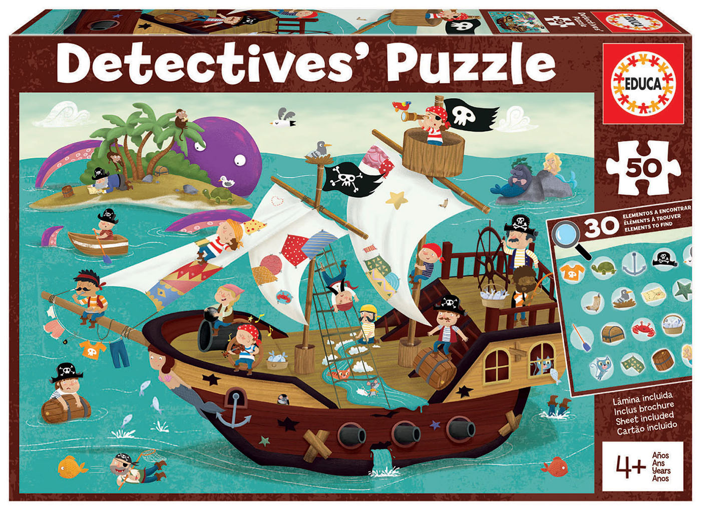 50 Barco Pirata Detectives´ Puzzle