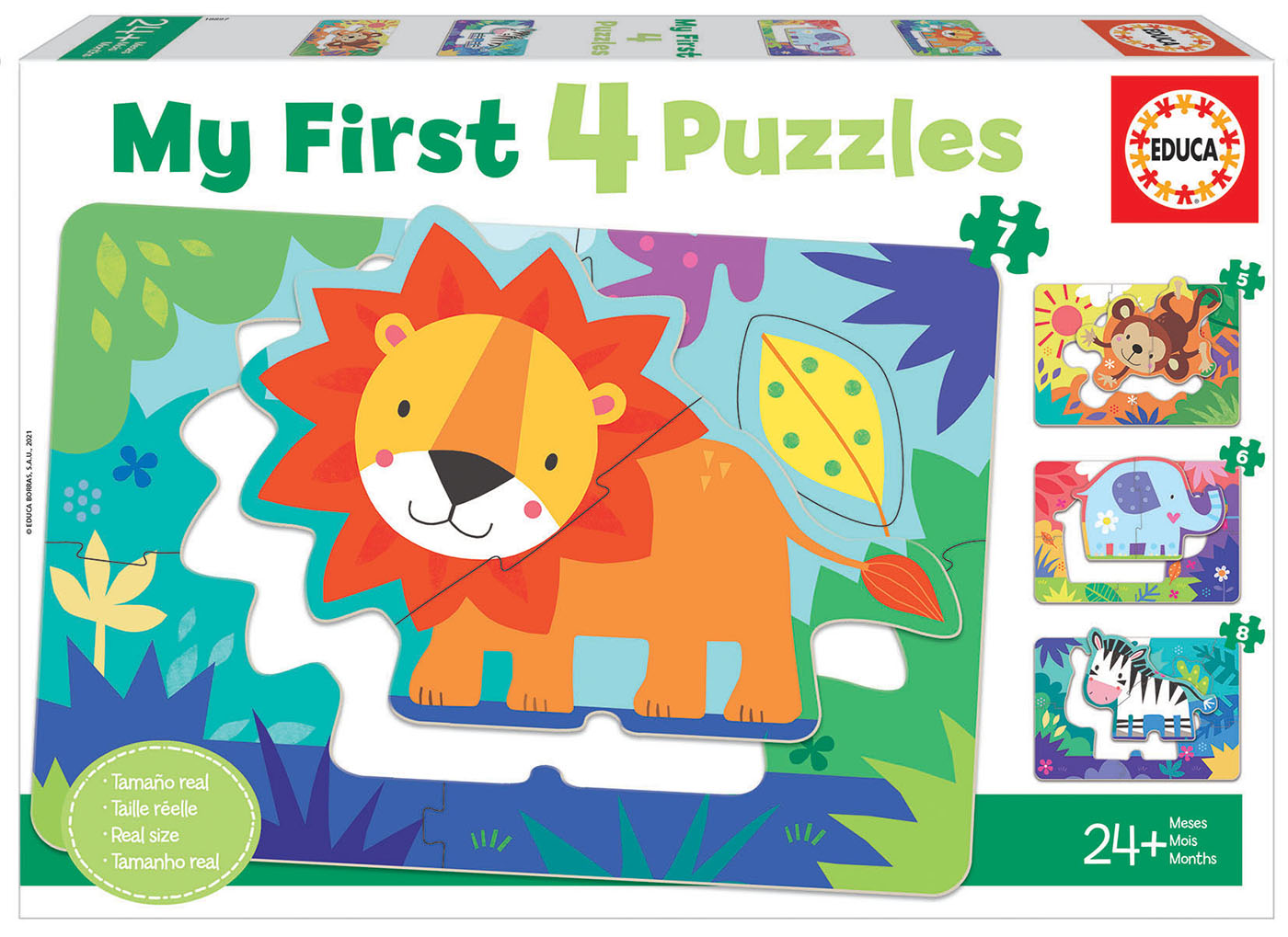 Les Animaux de la Jungle My First Puzzles