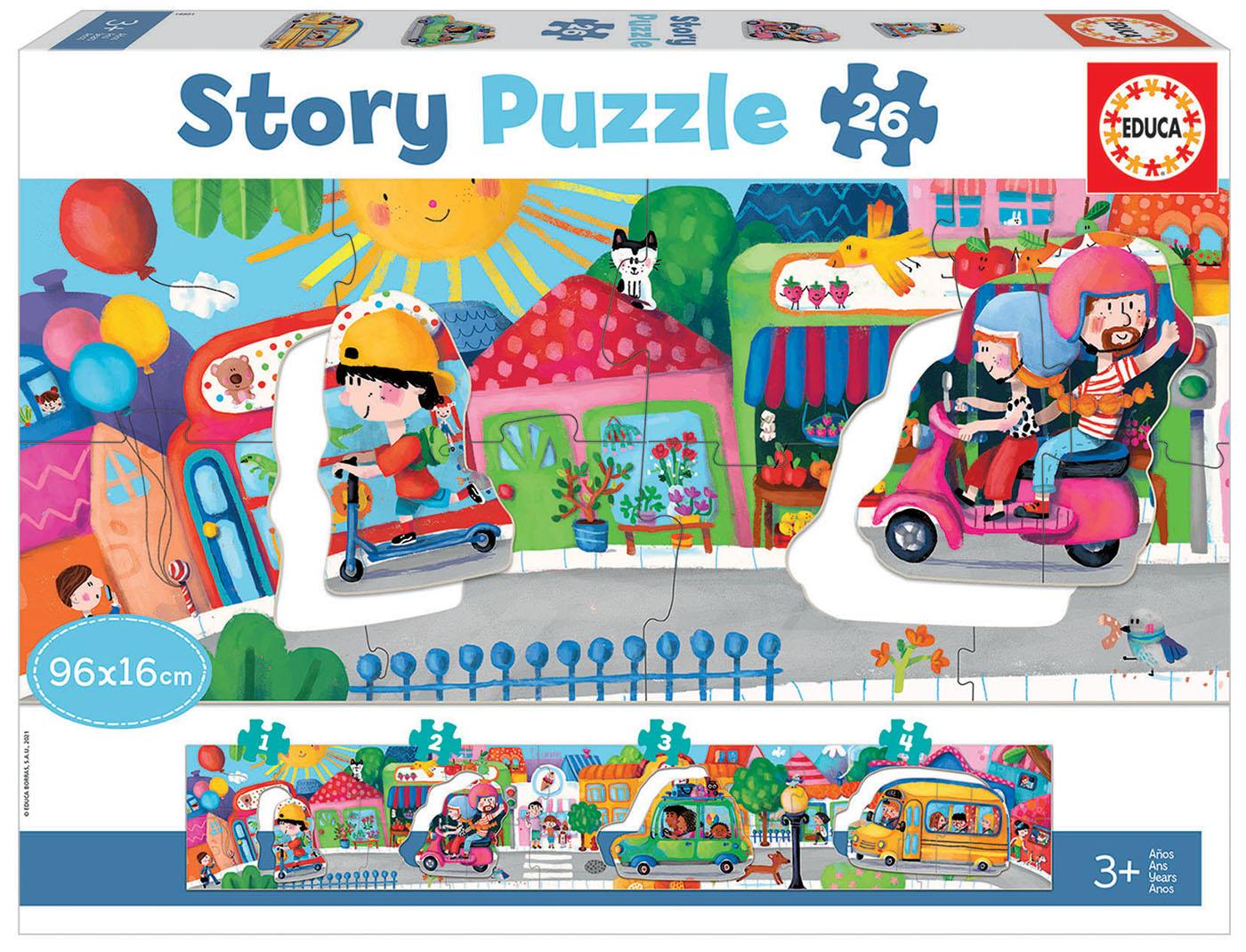 26 City Vehicles Story Puzzle