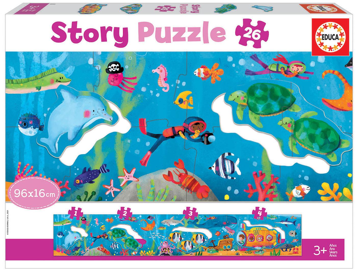 26 Mundo Subaquático Story Puzzle