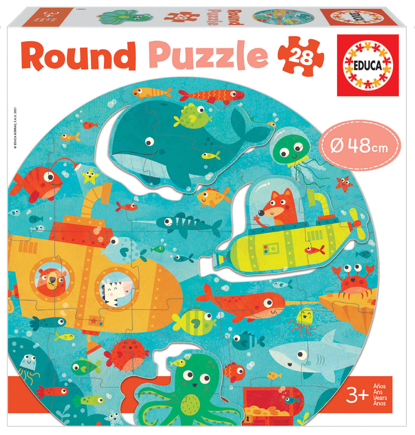 28 Debaixo do Mar Round Puzzle