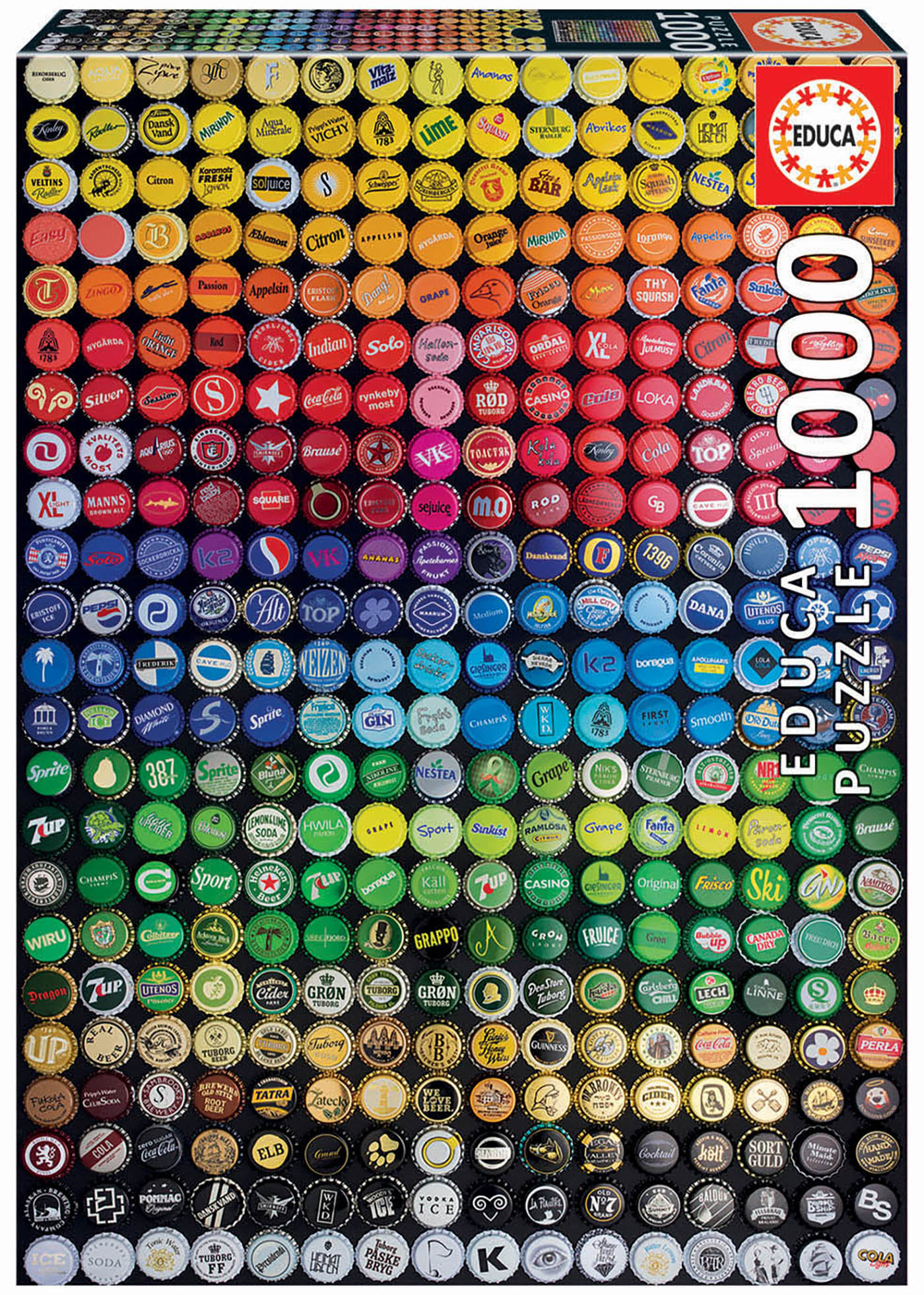 1000 Collage Tampas de garrafas