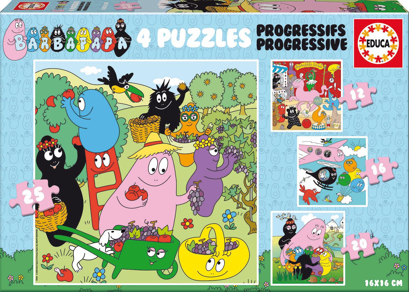 Puzzle Progressif Barbapapa 12+16+20+25 pcs