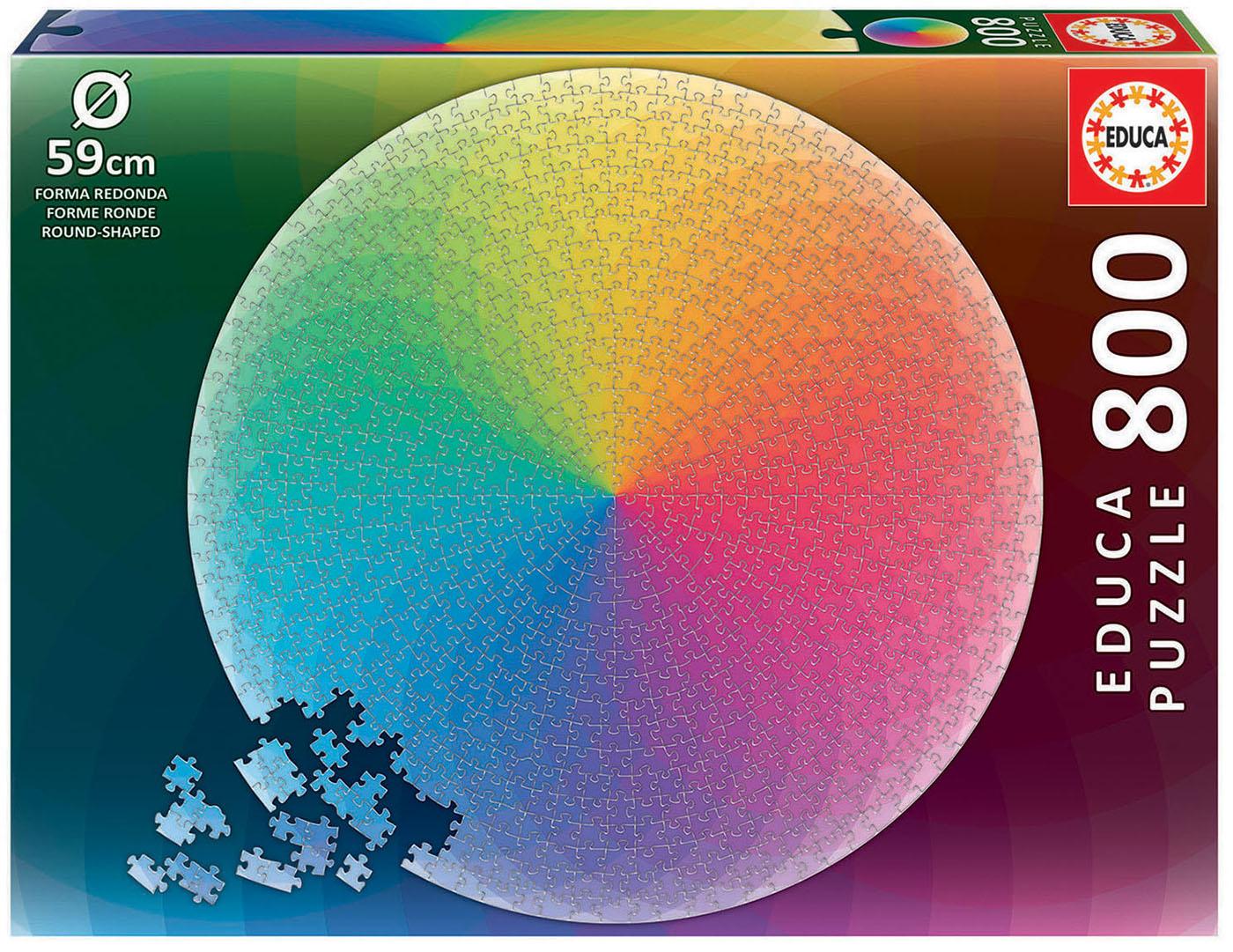 800 Arco Iris Round Puzzle