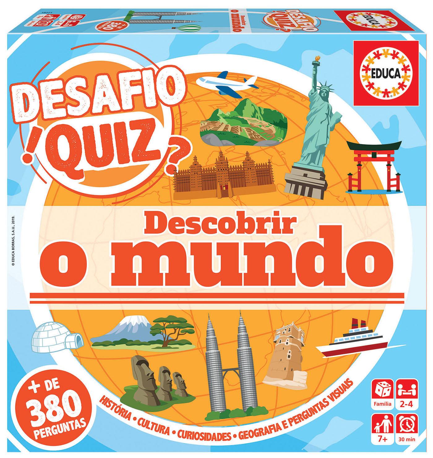 Desafio Quiz – Descobrir O Mundo