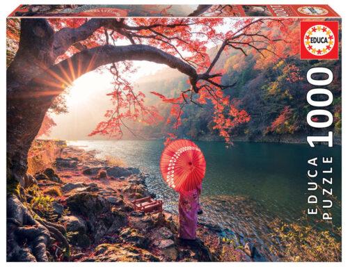 1000 Lever de soleil sur le fleuve Katsura, Japon