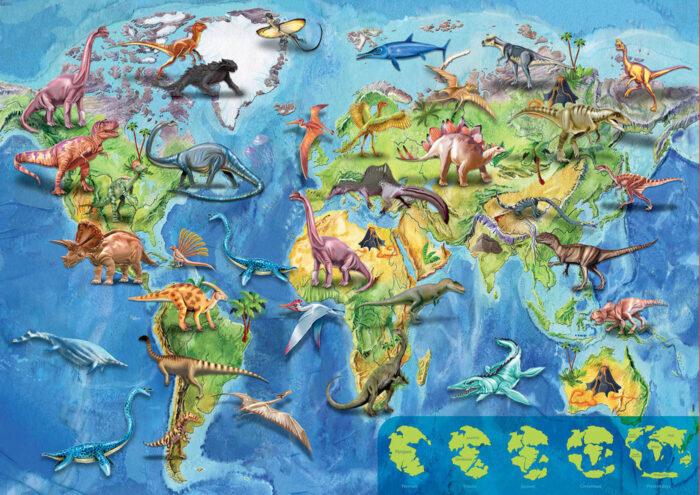 150 Mapamundi Dinosaurios