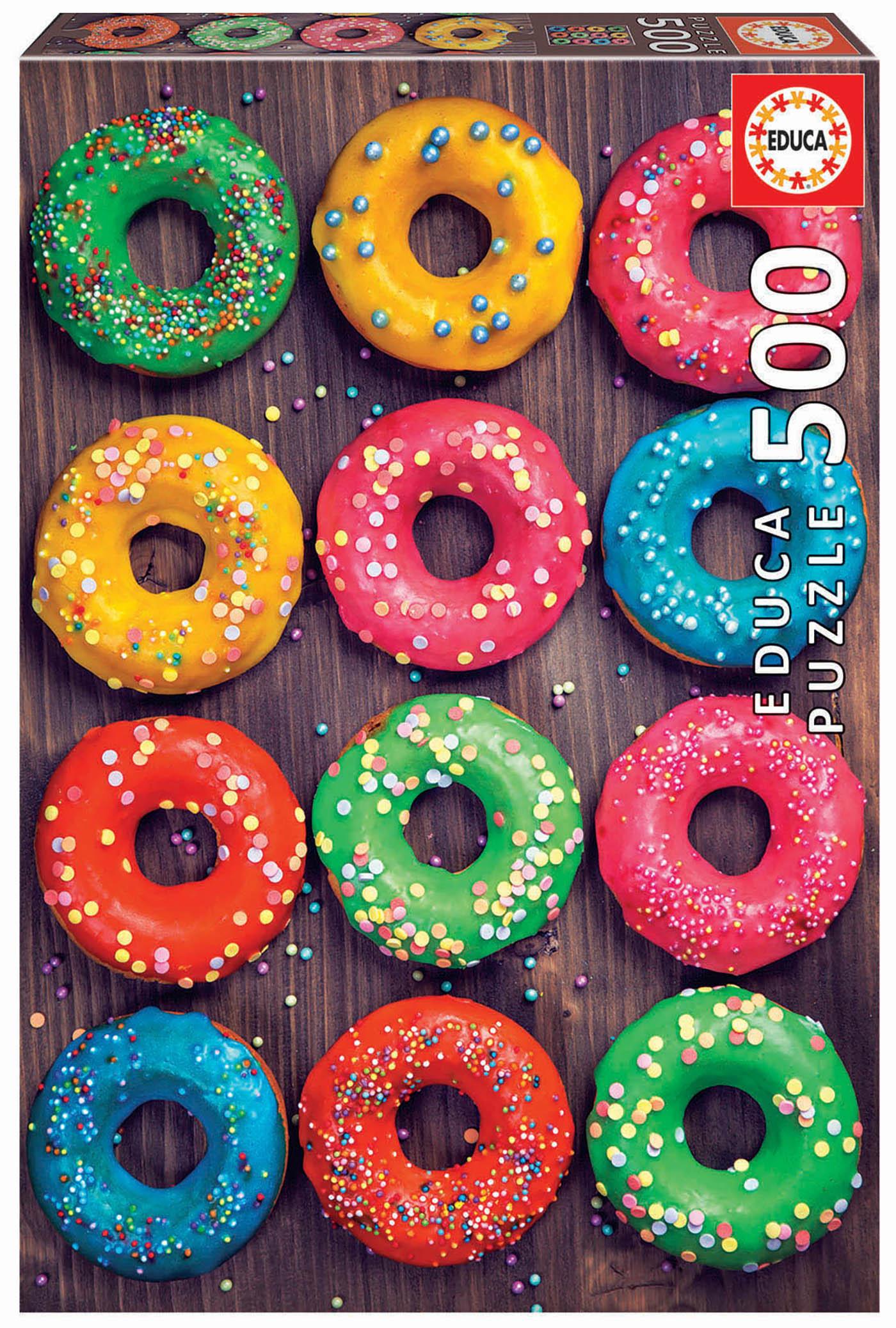 500 Des beignets colorés
