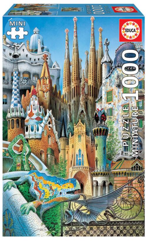 """1000 Gaudí collage """"Miniature"""""""