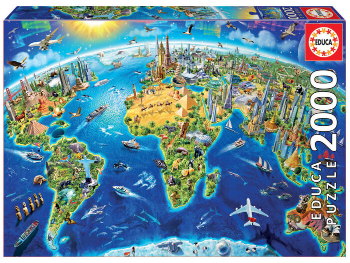 2000 World Landmarks Globe