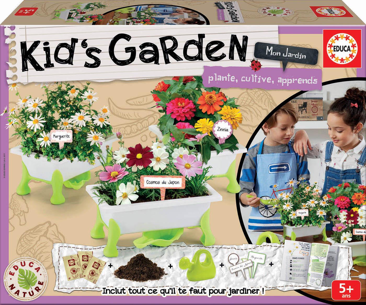 Kid's Garden : Fleurs : Marguerites + Zinias + Cosmos