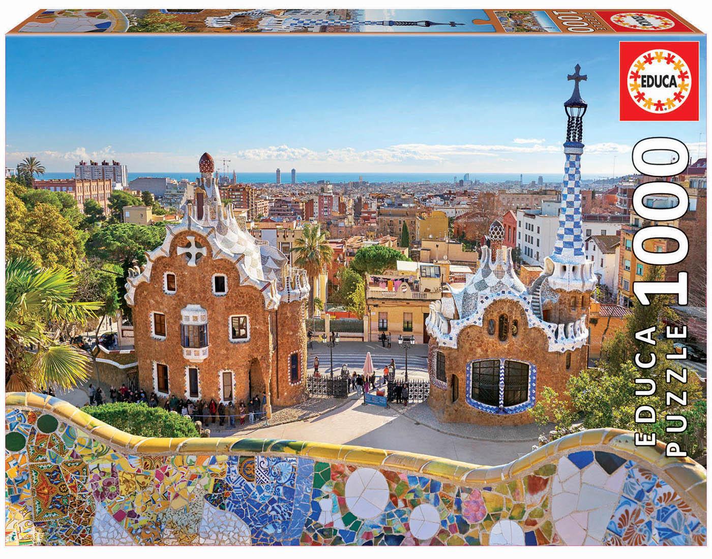 1000 Vue de Barcelone depuis le Parc Güell