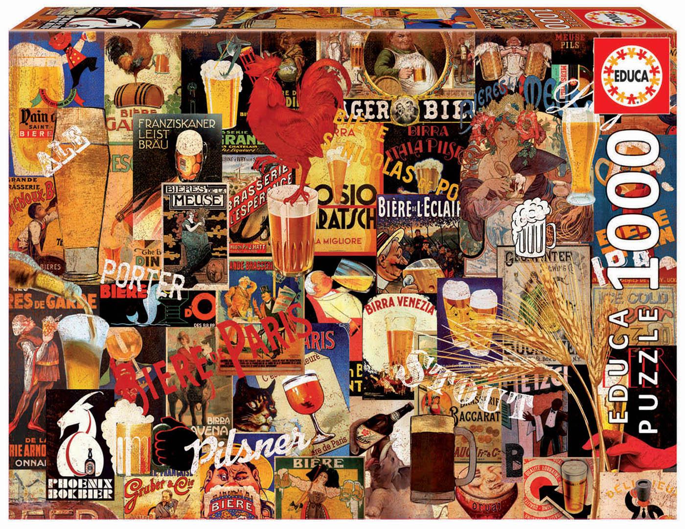 1000 Colagem de cervejas antigas