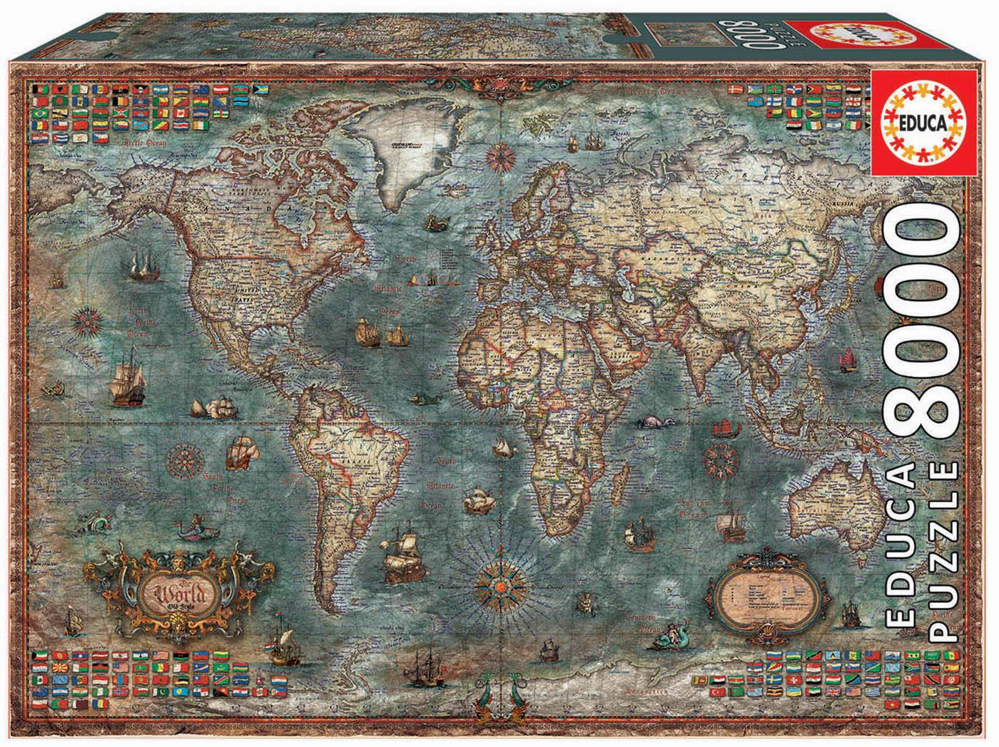 8000 Mappemonde historique