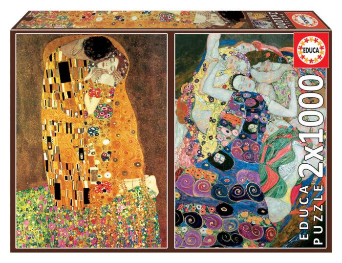 2x1000 The Kiss + The Maiden, Gustav Klimt