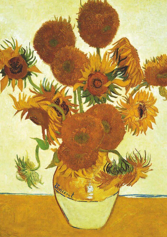 2x1000 Sunflowers + Café terrace at night, Vincent Van Gogh