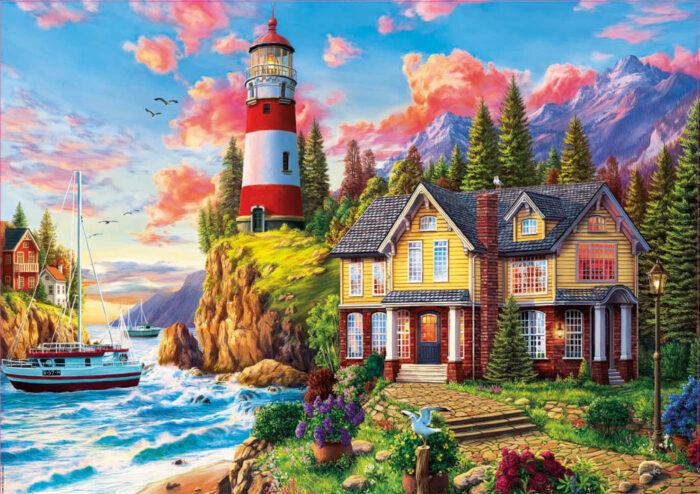 3000 Lighthouse near the ocean