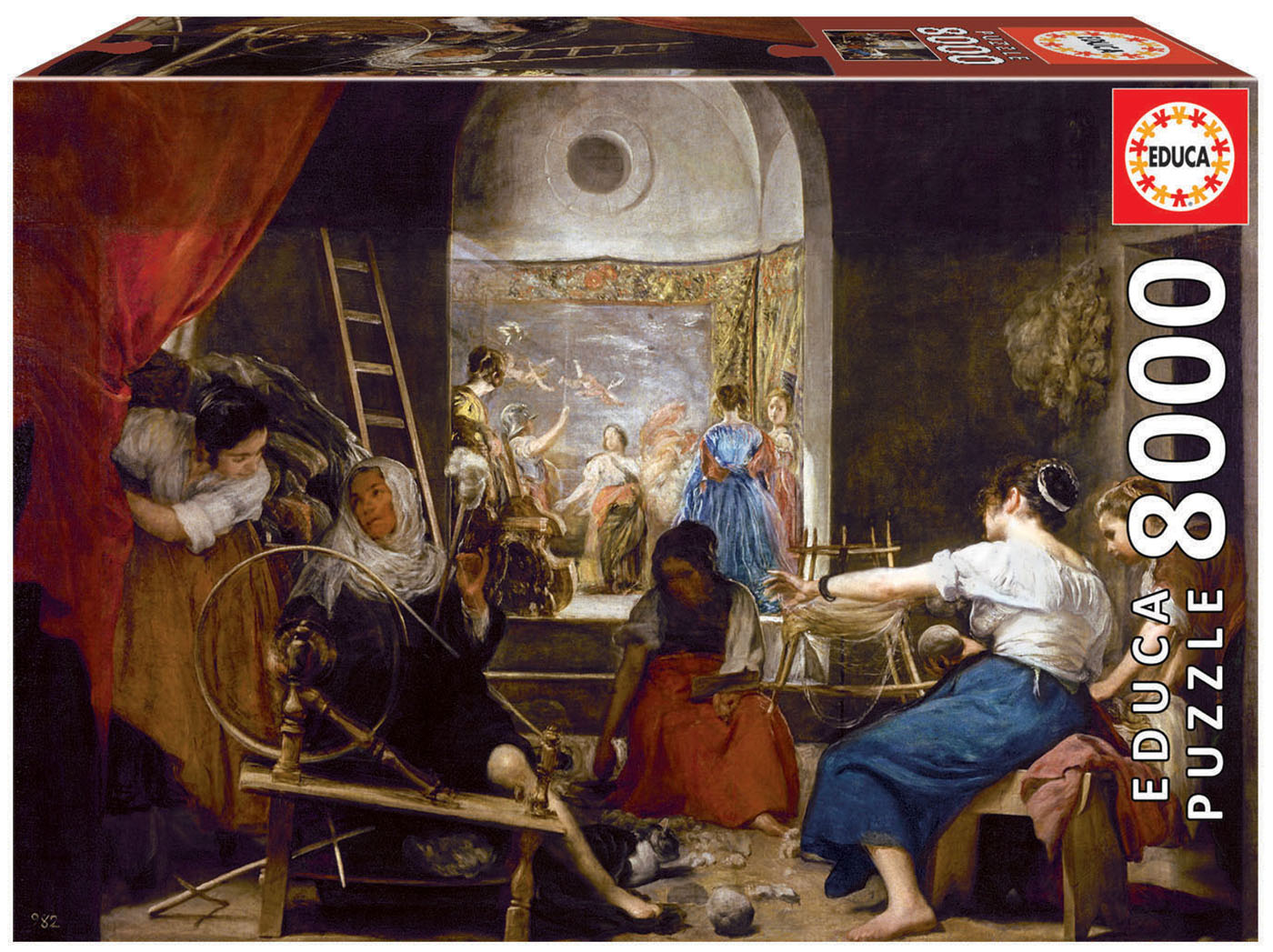 8000 Les Fileuses ou La Légende d´Arachné, Diego Velázquez