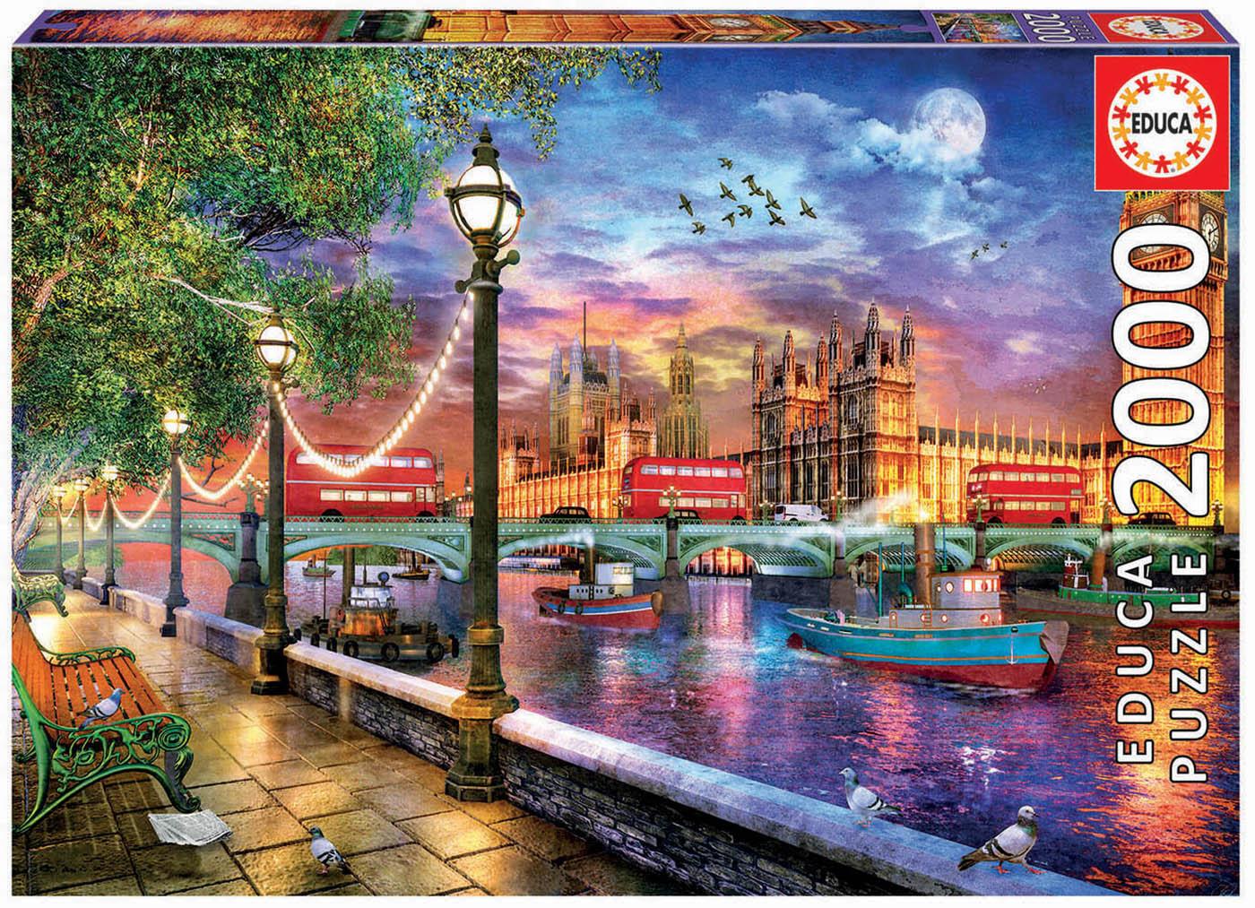 2000 London at sunset