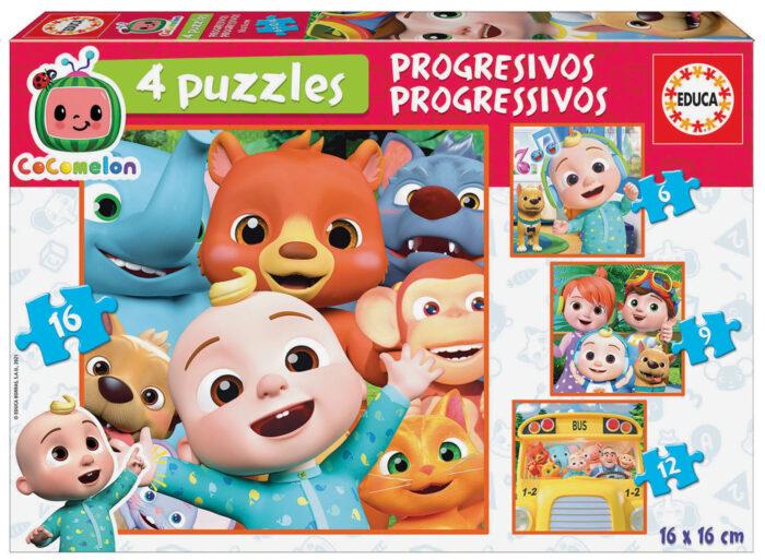 Progressive Puzzles Cocomelon 6+9+12+16